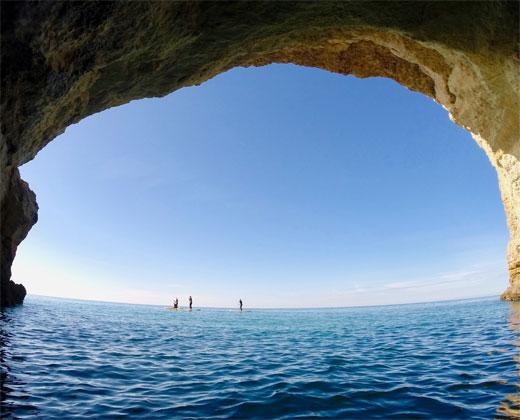 Benagil Cave SUP Paddling